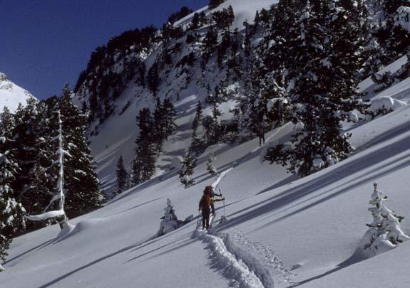 ruta d'esquí de muntanya a la molina