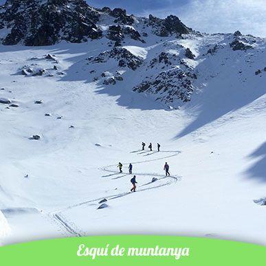 esquí de muntanya en una vall a la cerdanya