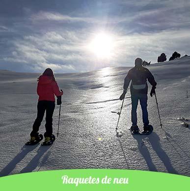 excursions de raquetes de neu a catalunya